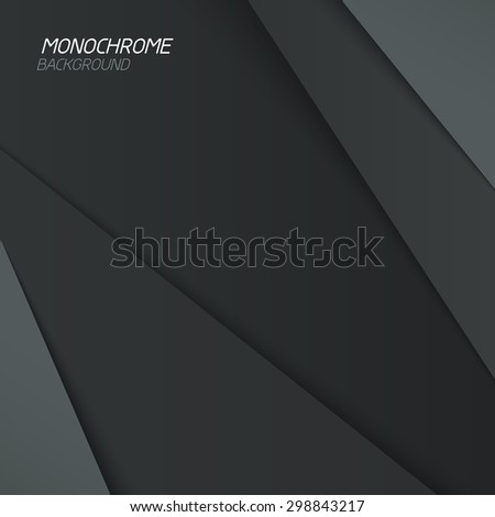 Abstract background. Gray shapes shadow overlap 3D dimension. Modern flat material background. Geometric vector template. - stock vector