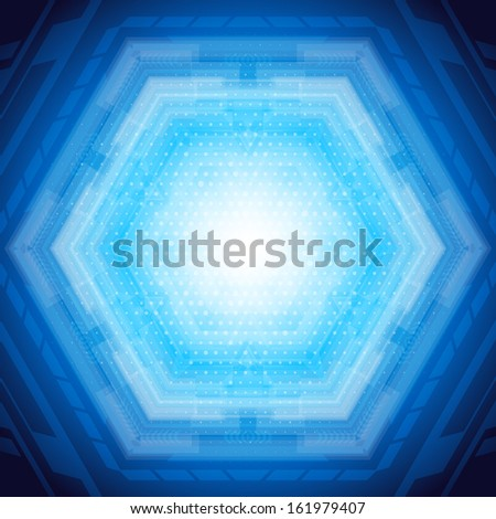 Abstract background in blue color. Vector. - stock vector