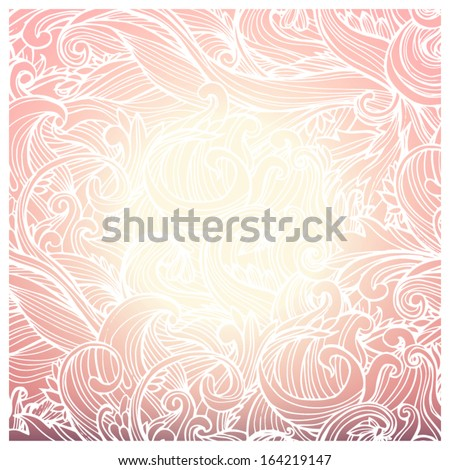 Abstract background, invitation card with ornament. Useful for packaging, invitations, decoration, etc. - stock vector