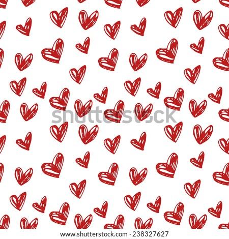 Abstract background is in the hearts. Drawing freehand pencil style. Background for Valentine's Day. - stock vector