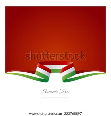 Abstract background Italian flag ribbon - stock vector