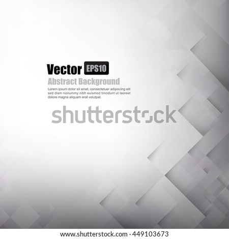 Abstract background light grey with basic geometry element vector illustration - stock vector