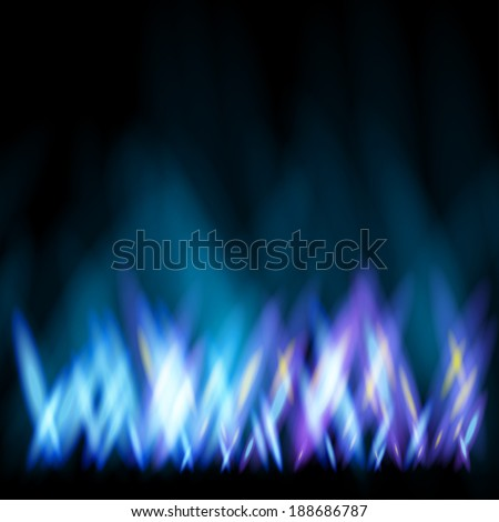 Abstract background like as flame of gas cooker - stock vector
