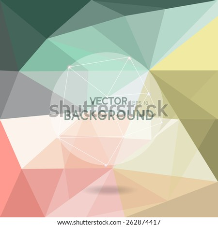 abstract background,  low poly design, hipster concept with logo, text can be edited,texture can be used for wallpaper, pattern fills, web page background,surface textures. - stock vector