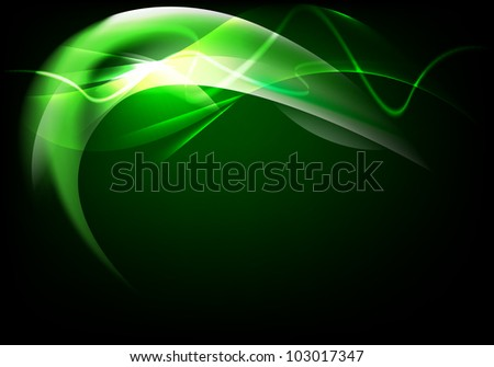 abstract background luminescence wave - stock vector