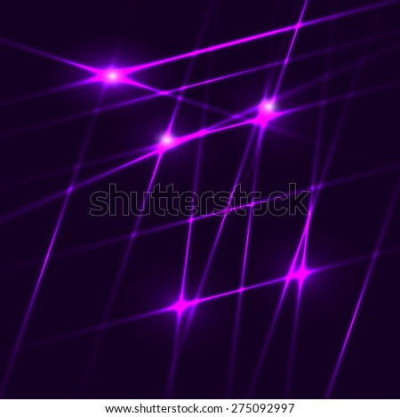 Abstract background made from purple laser beams. Vector illustration. - stock vector