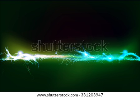 Abstract background made of Electric lighting effect.   - stock vector