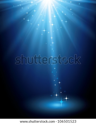 Abstract background. Magic light for presentation - stock vector