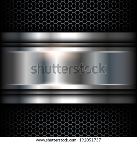 Abstract background metallic, vector shiny illustration. - stock vector