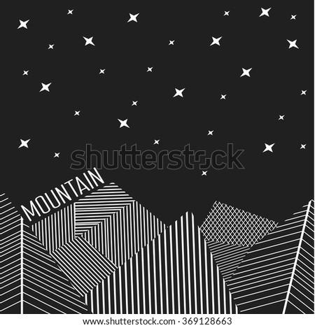 Abstract background, northern lights, polar light, night stars - stock vector