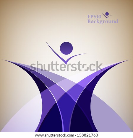 Abstract background of a line of a wave an emblem - stock vector