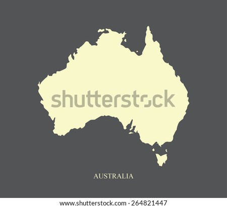 Abstract background of Australia map, a black and white design of Australian map - stock vector