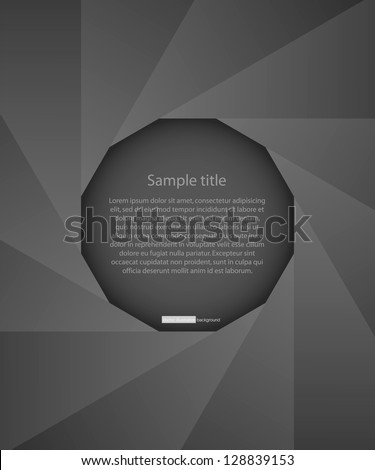 abstract background of black photo diaphragm open over white.with free space in the middle for sample text. vector. - stock vector