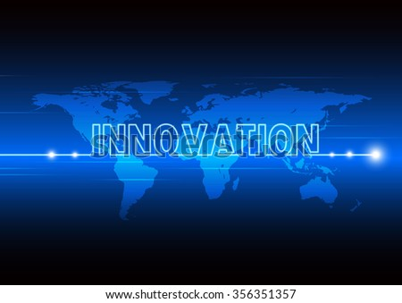 Abstract background of new technology and fast innovation around the world, vector illustration - stock vector