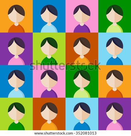 Abstract background of people icons. - stock vector