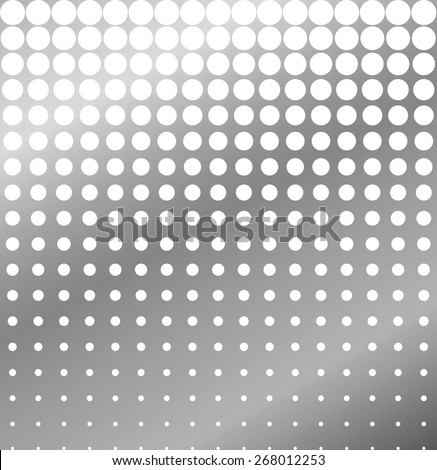 Abstract background of perforated metal halftone vector - stock vector