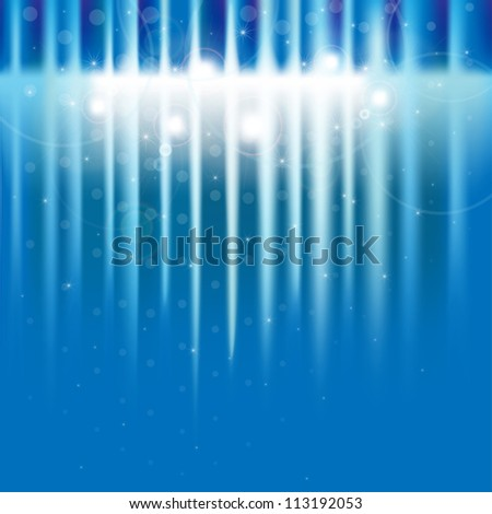 Abstract background of shiny circles and stars - stock vector