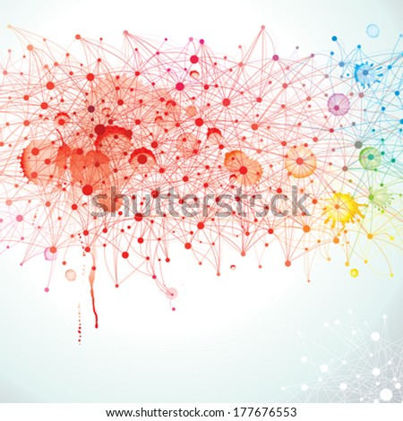 Abstract background of the molecular structure. - stock vector