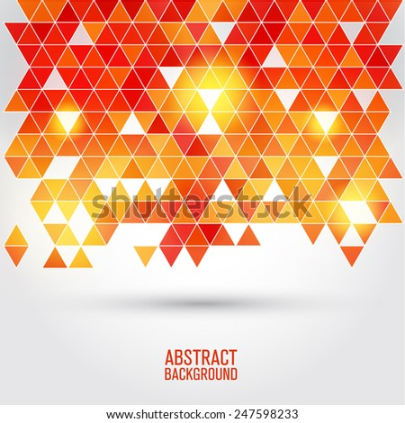 Abstract  background of triangular polygons - stock vector