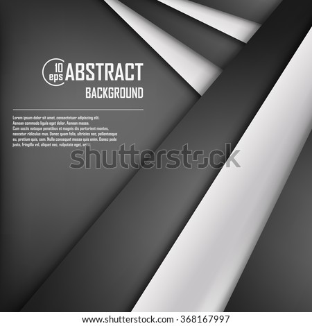 Abstract background of white and black origami paper. Vector illustration. Mesh. EPS 10 - stock vector