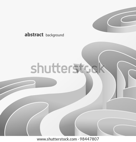 Abstract background of white elements with arrow - stock vector