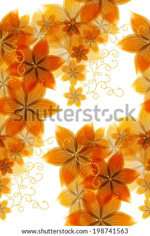 Abstract background of yellow flowers - stock vector