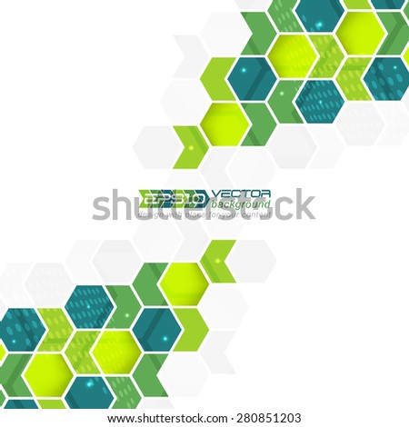 Abstract background, pattern with arrows and hexagons  - stock vector