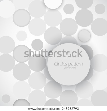 Abstract background pattern with cray 3d circles - stock vector