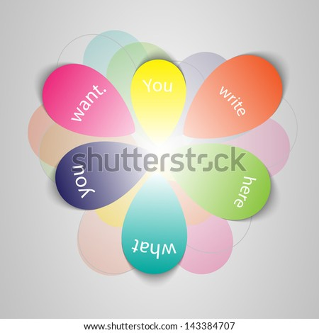 Abstract Background - Petals - stock vector