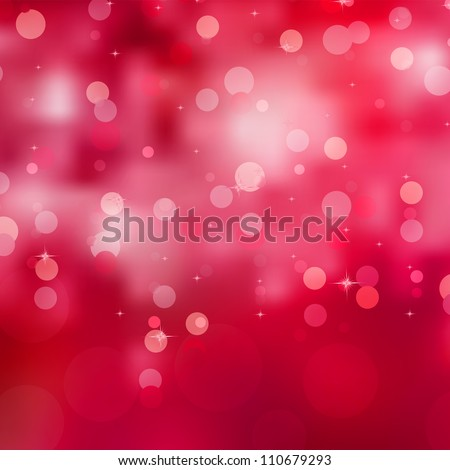 Abstract background, red magic lights, bokeh. EPS 8 vector file included - stock vector