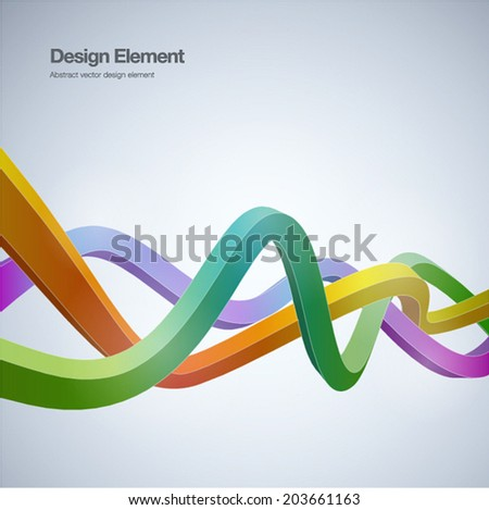 Abstract background ribbon style.  Vector illustration. can be used for workflow layout, banner, wallpaper, web design. - stock vector