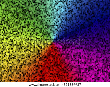 Abstract background. Round with stipple effect. Mosaic abstract composition. Rhythmic colorful round tiles. EPS10 with transparency. Decorative shapes. Spectrum background. Colorful round particles - stock vector
