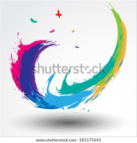 Abstract background Songkran Festival: The Water Splash Festival. Vector Illustration, EPS 10 - stock vector