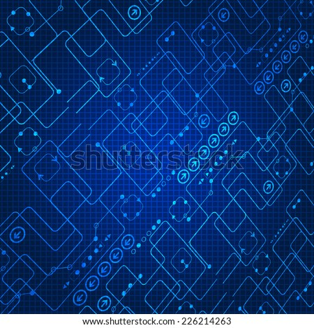Abstract background, technology theme - stock vector