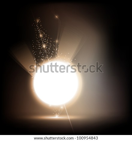 abstract background - the energy sphere - stock vector
