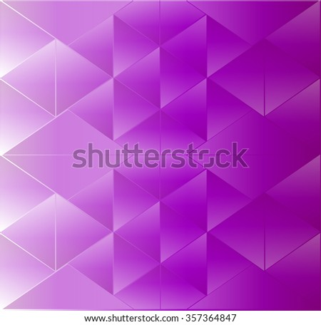 Abstract background triangle purple - stock vector