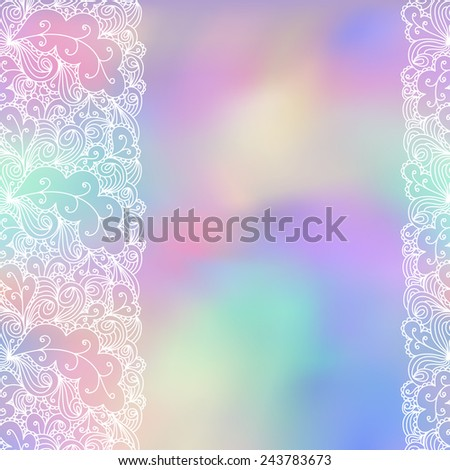 Abstract background, wedding invitation or greeting card design with lace pattern, beautiful luxury postcard, ornate page cover, ornamental vector illustration. Use for packaging, scrapbooking. - stock vector