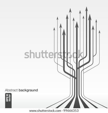 Abstract background whith arrows.vector. - stock vector