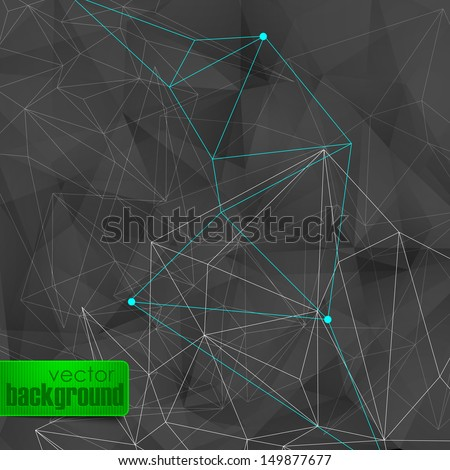 abstract background with black triangles  - stock vector
