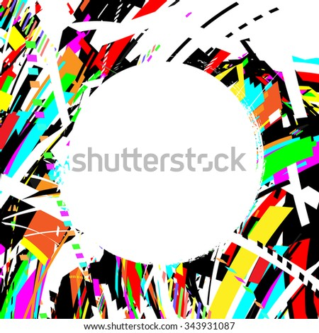 abstract background with blank circle label - stock vector