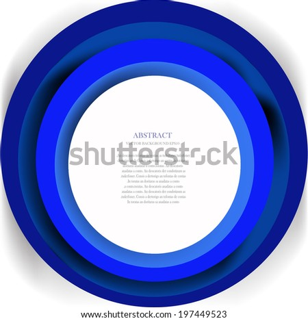 Abstract background with blue color - stock vector