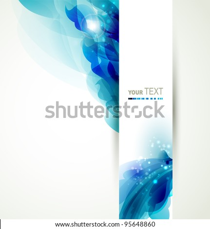 Abstract  background with blue elements - stock vector