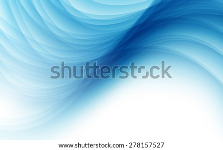 Abstract background with blue wave. Vector illustration. Clip-art - stock vector