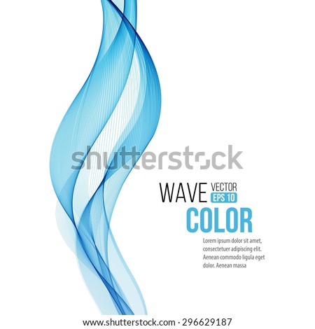 Abstract background with blue wave. Vector illustration EPS 10 - stock vector
