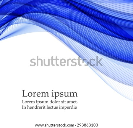 Abstract background with blue waves - stock vector