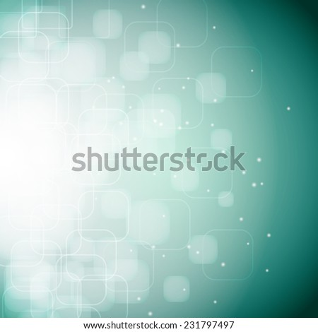 abstract background with bokeh effect, rounded rhombus   - stock vector