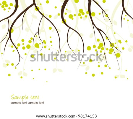 Abstract background with branches of trees - stock vector
