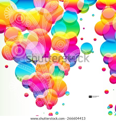 Abstract background with bright circles. - stock vector