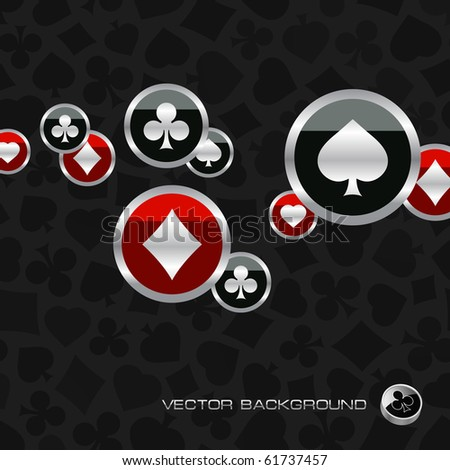 Abstract background with card suits. Vector illustration. - stock vector