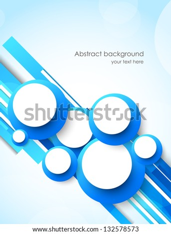Abstract background with circles - stock vector